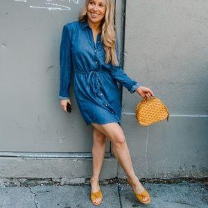 Abercrombie chambray dress
